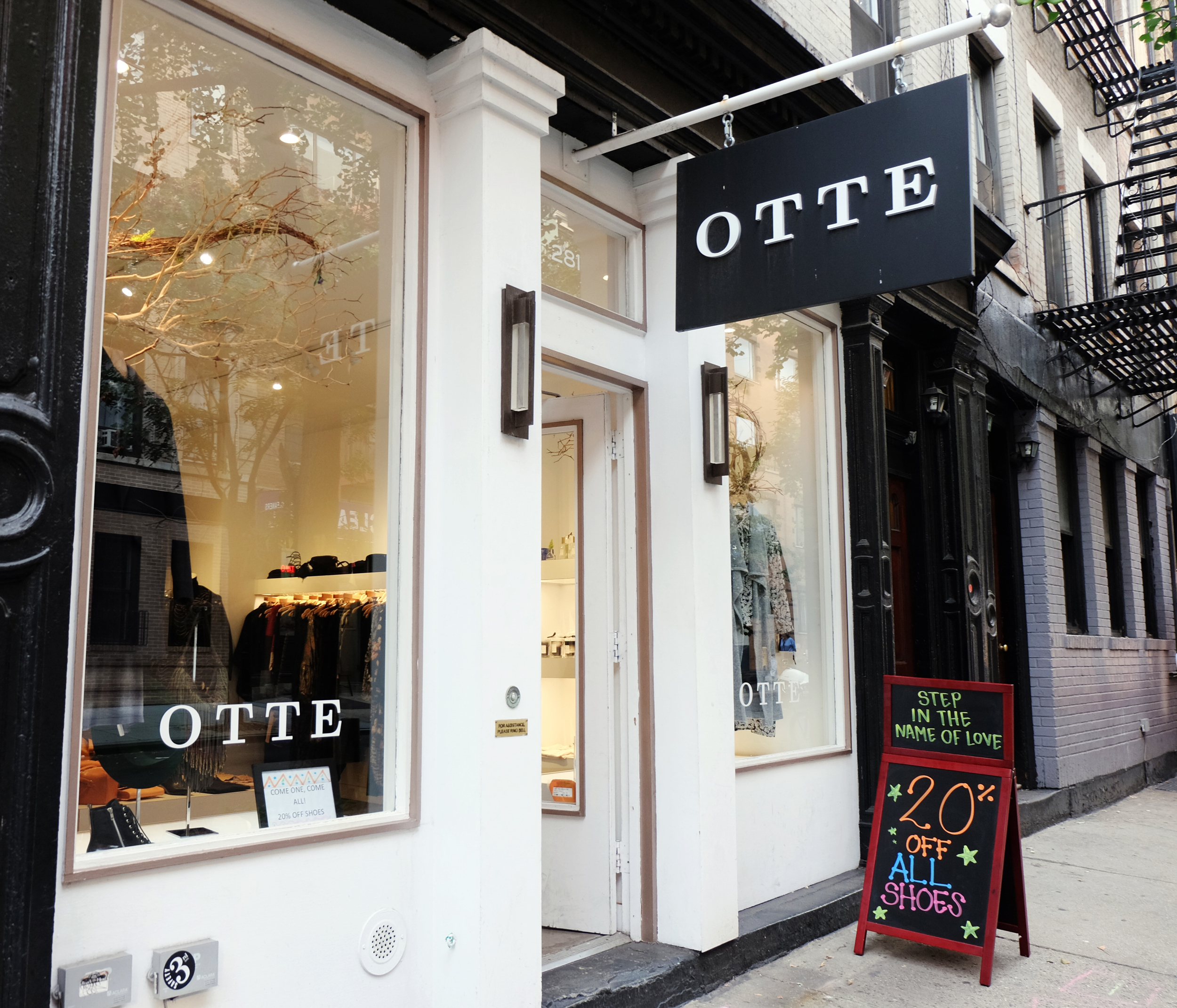 Otte  / 281 Mott Street. New York, NY 10012 / 212-925-0200  Otte houses a variety of brands. The assortment ranges from J Brand jeans to One teaspoon denim,Organic by John Patrick to ATM,Margaux Launberg to See by Chloe, ALC to BLK DNM. I like to pop my head in once in a while to see what's going on.