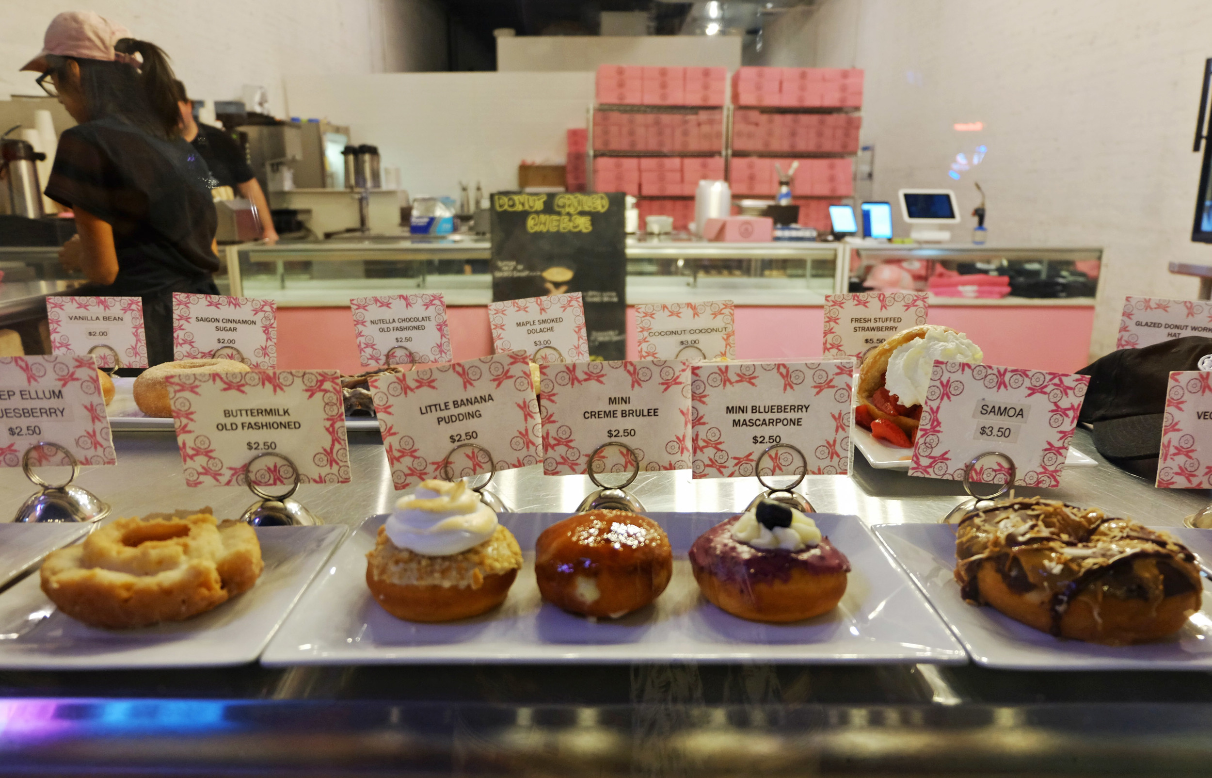 In Dallas I ...experienced happiness at  Glazed Donut Works .