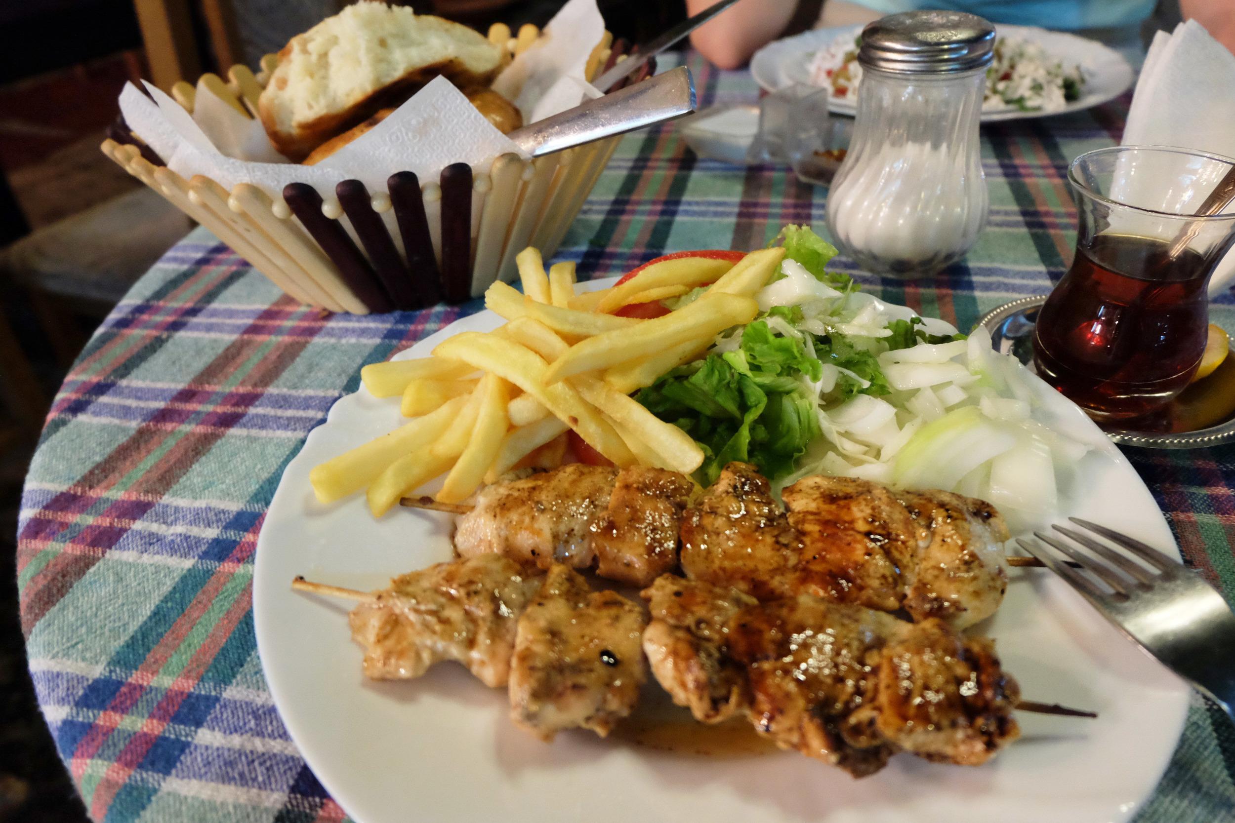 Chicken kebab at  Turist