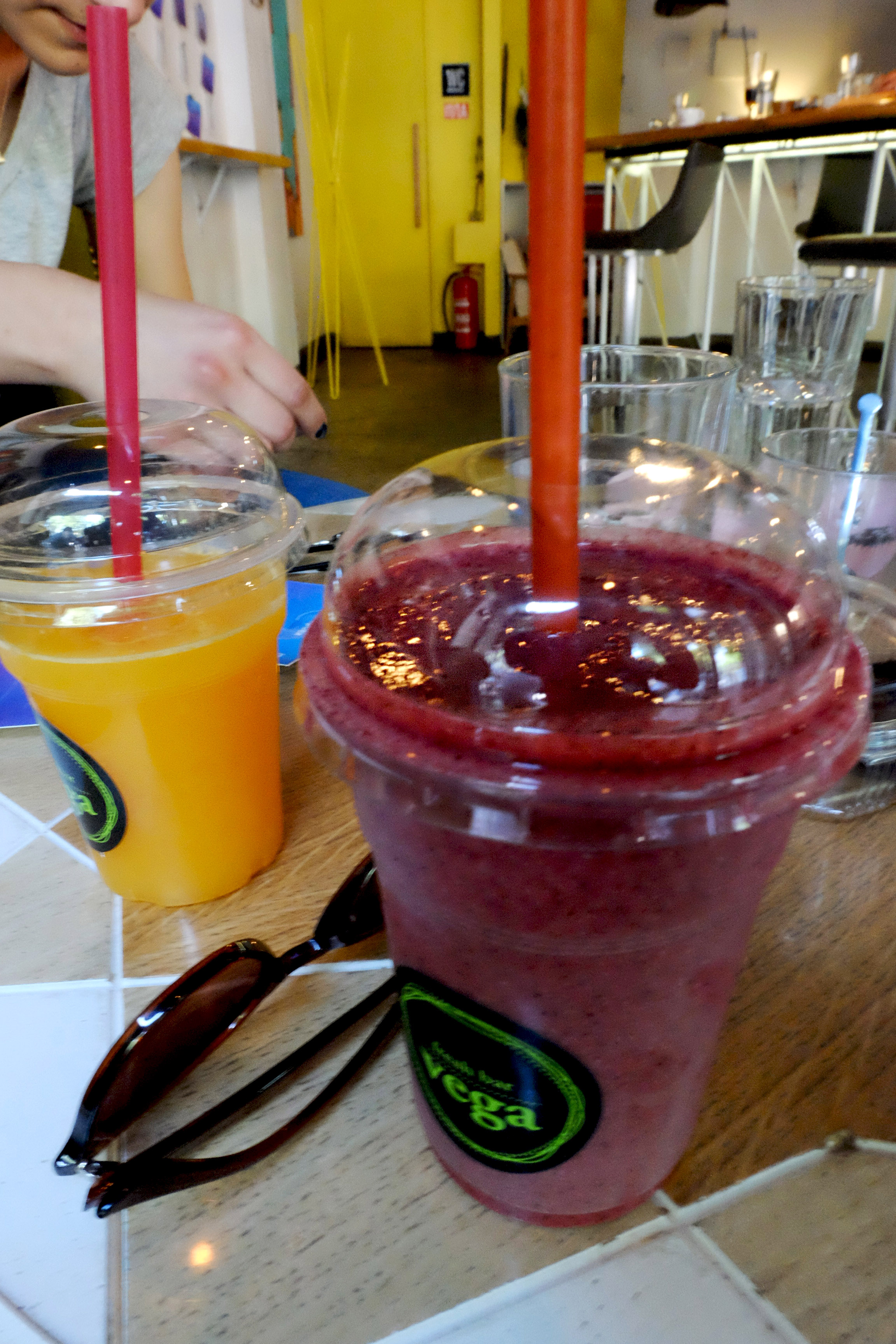 Mixed berries with mint smoothie at  Vega foods