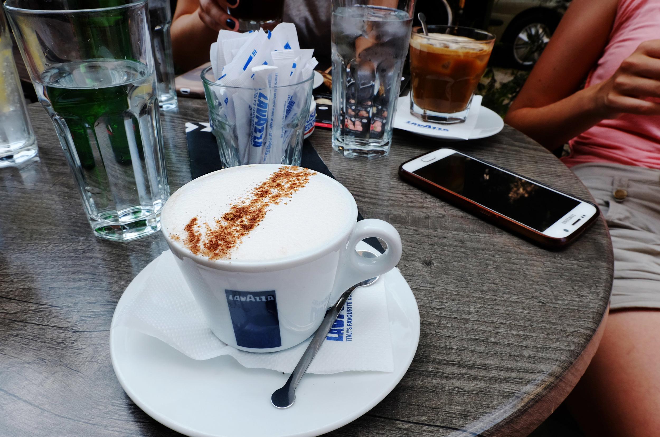 Cappuccino at  Kino karpush