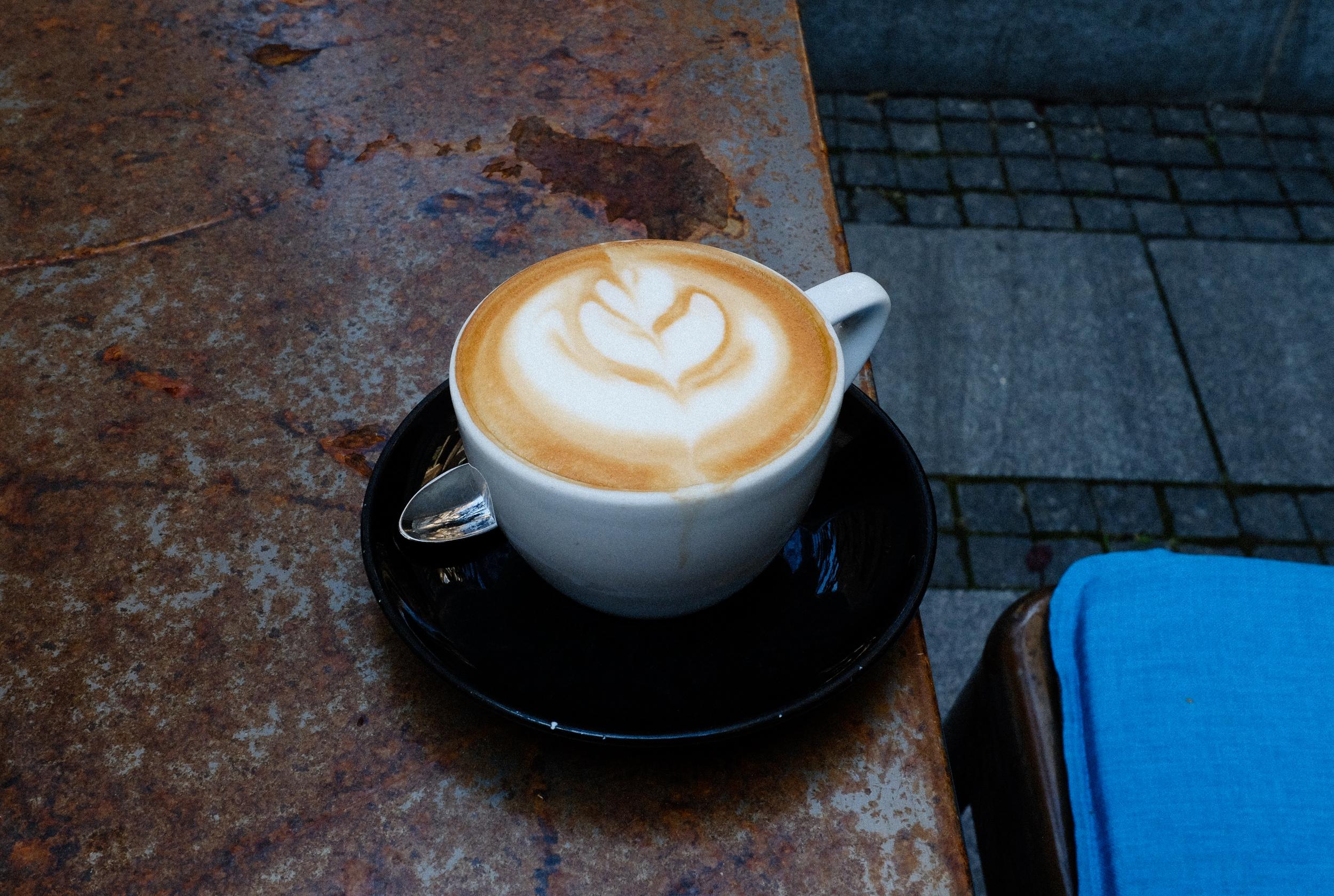 Cappuccino at  Koffein  off of Cara Lazara