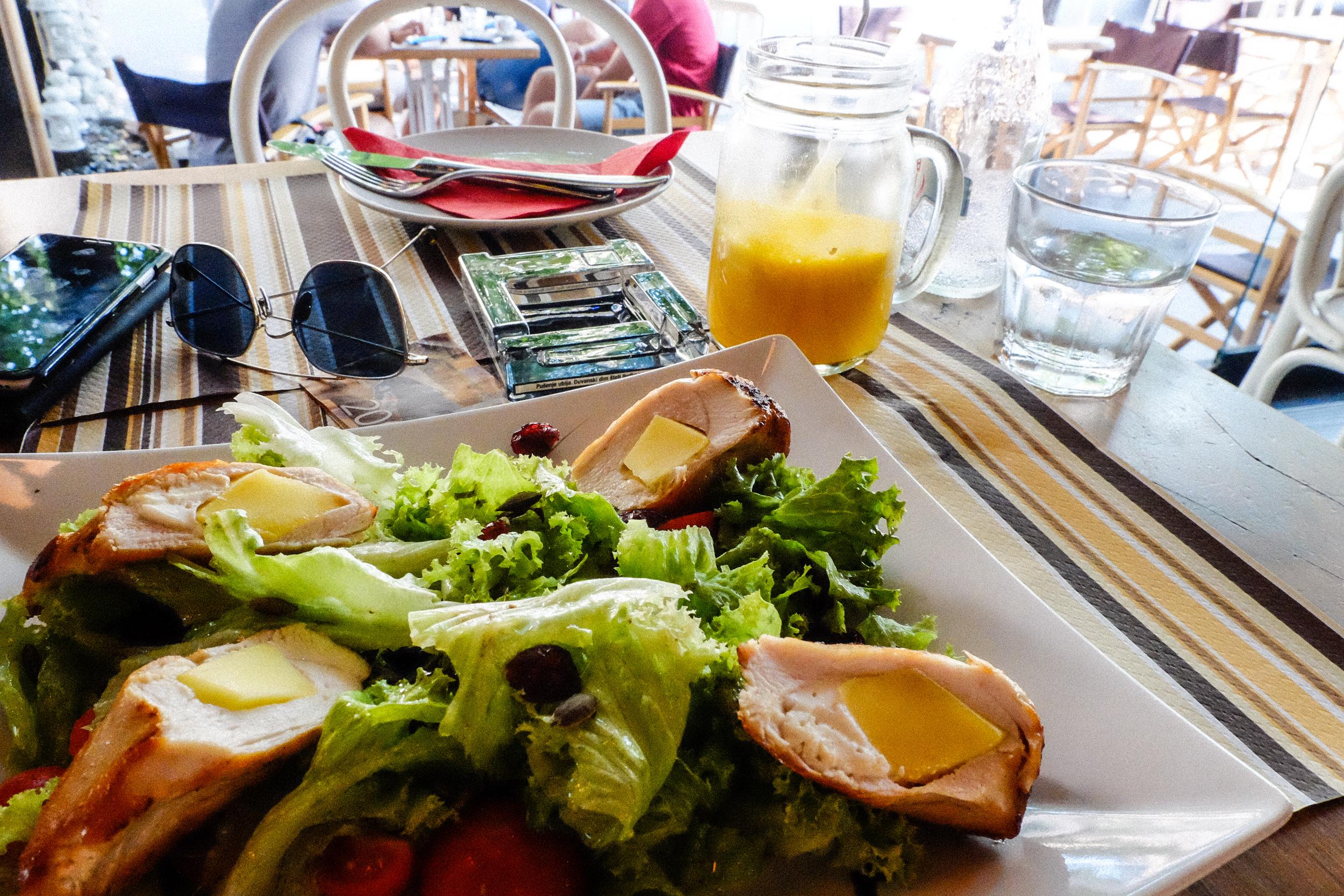 Unwinding over a simple salad at  Supermarket Deli , Topličin venac
