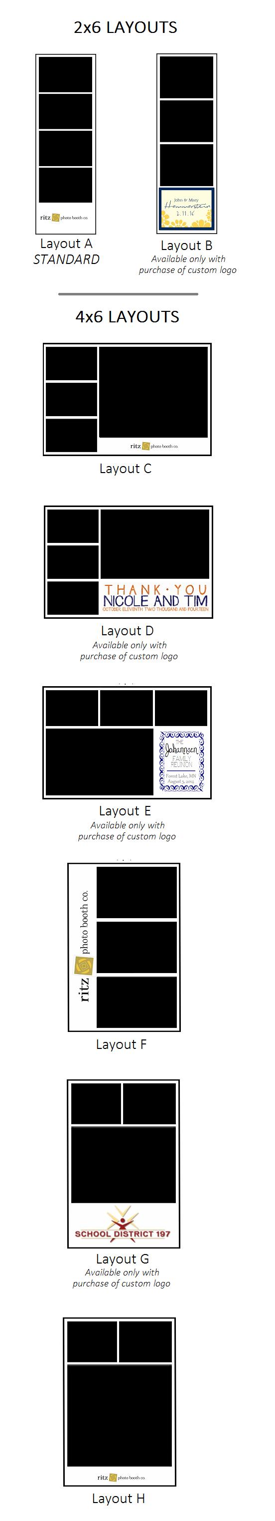 photo booth print layouts 2x6 4x6
