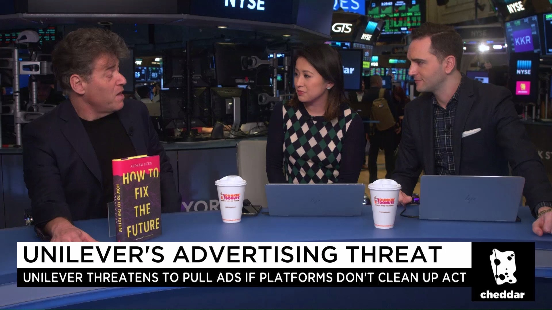 Fixing the Internet - Cheddar LIVE interview at the New York Stock Exchange with Hope King and Baker Machado about Unilever, Facebook, and How to Fix the Future.