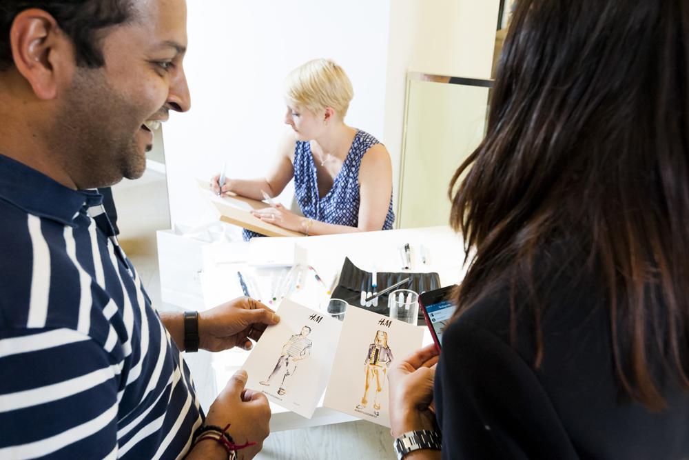 Live fashion illustration event H&M | Willa Gebbie