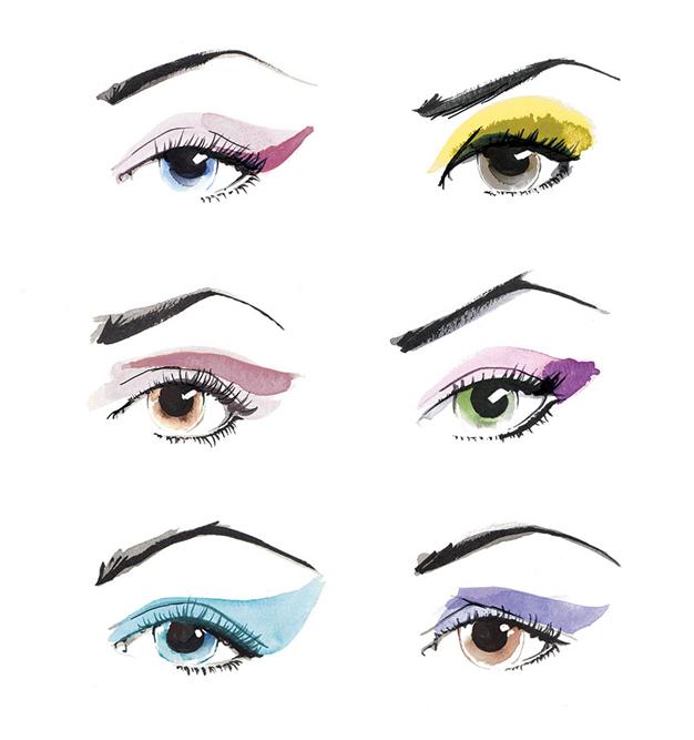 Beauty Illustration   Makeup   Watercolour   London based illustrator Willa Gebbie