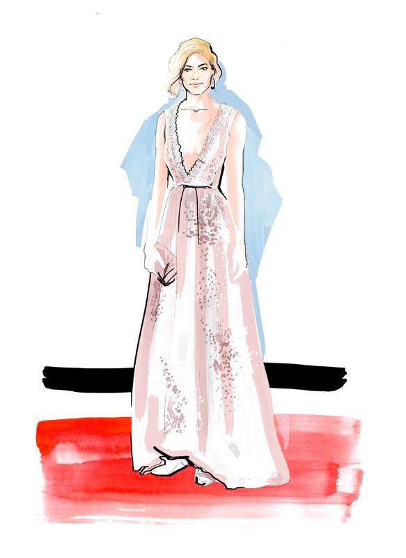 Fashion Illustration | Red Carpet | Watercolour | London based illustrator Willa Gebbie