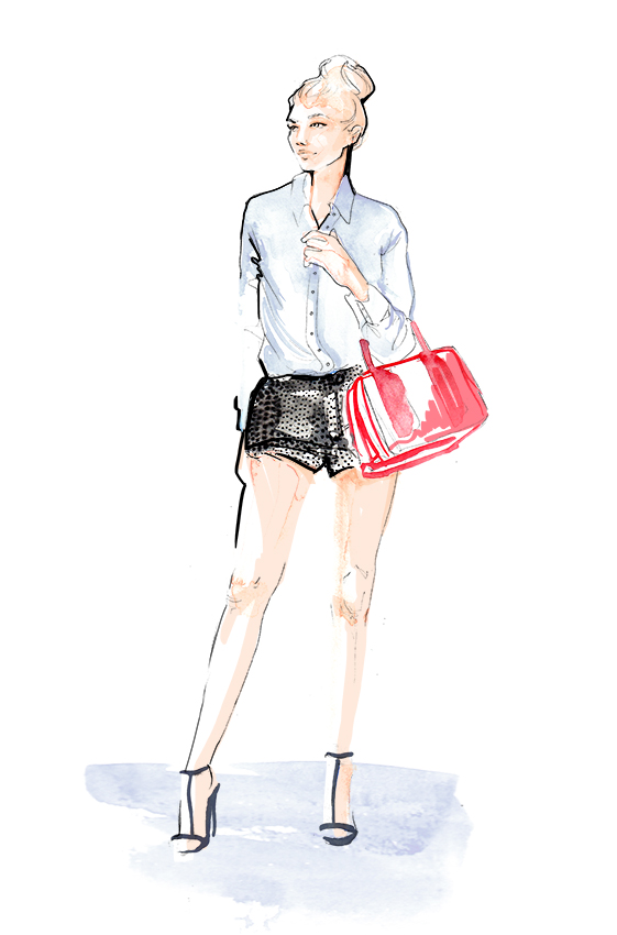 Fashion Illustration | Street Style | Watercolour | London based illustrator Willa Gebbie