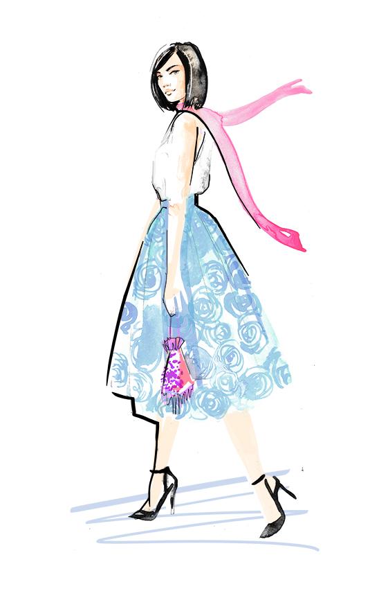 Fashion Illustration   Street Style   Watercolour   London based illustrator Willa Gebbie