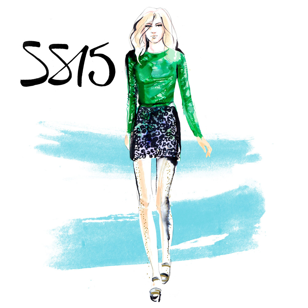 Fashion Illustration |  London Fashion Week | London based fashion illustrator Willa Gebbie