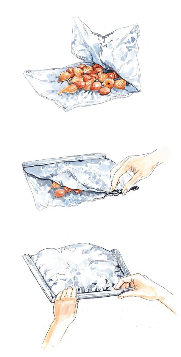 Food Illustration | StepbyStep |Watercolour | Vegetables | London based illustrator Willa Gebbie