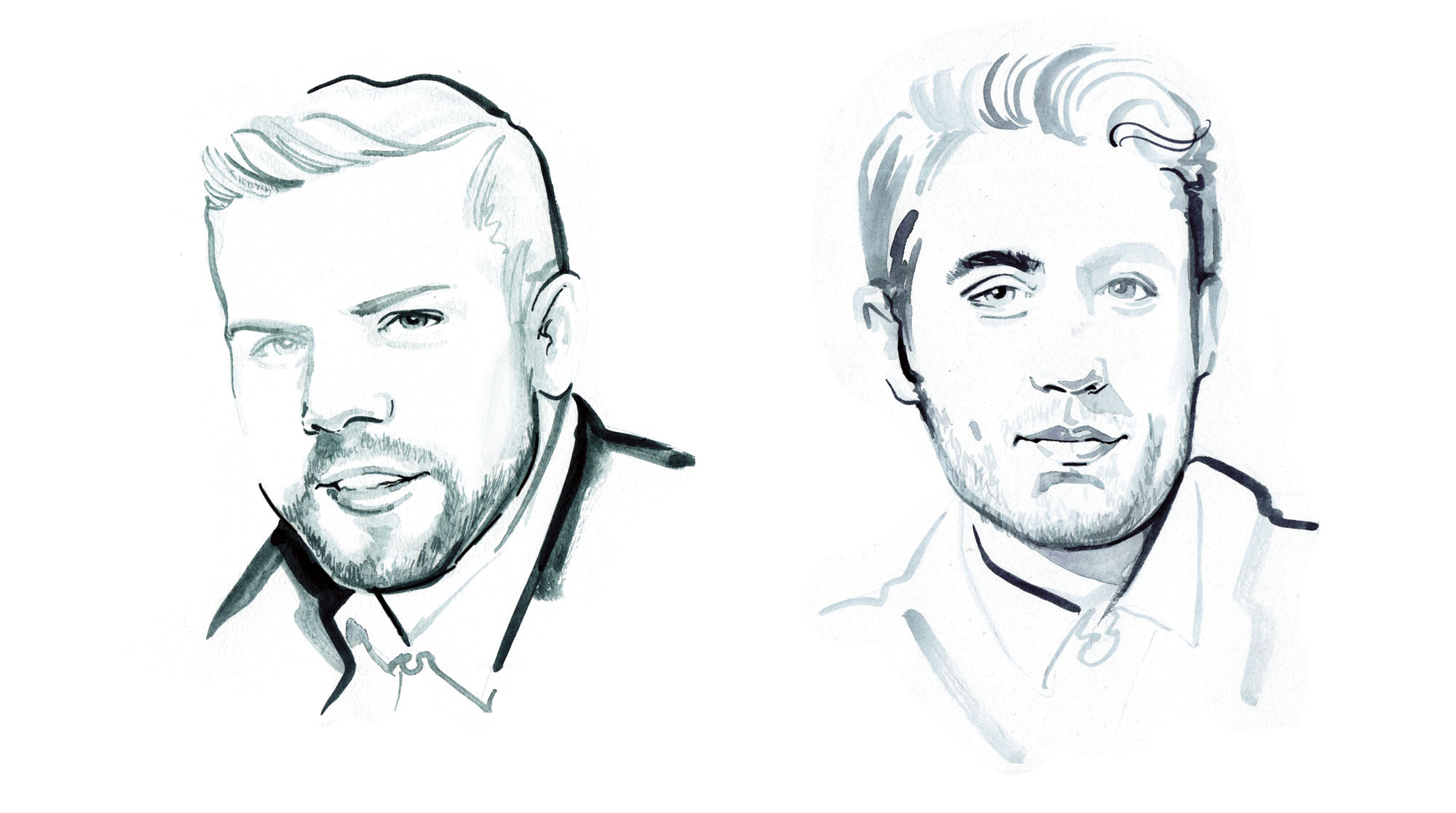 Portrait illustrations for Links of London PR dinner.