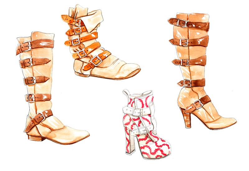 Vivienne Westwood Pirate Boots Illustration