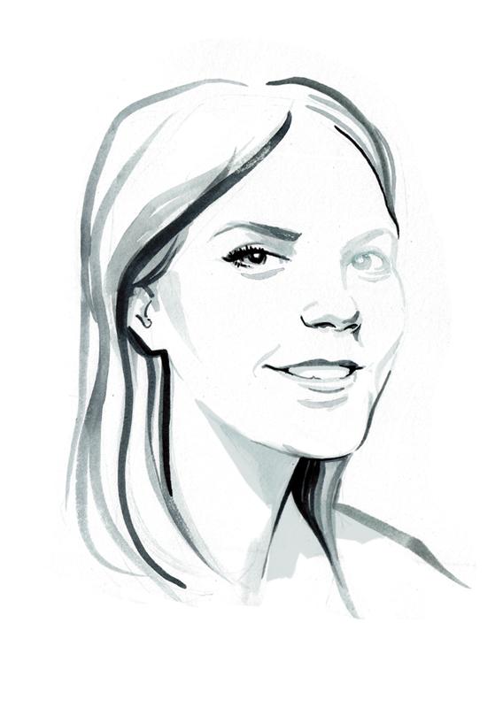 B&W painterly portrait illustrations