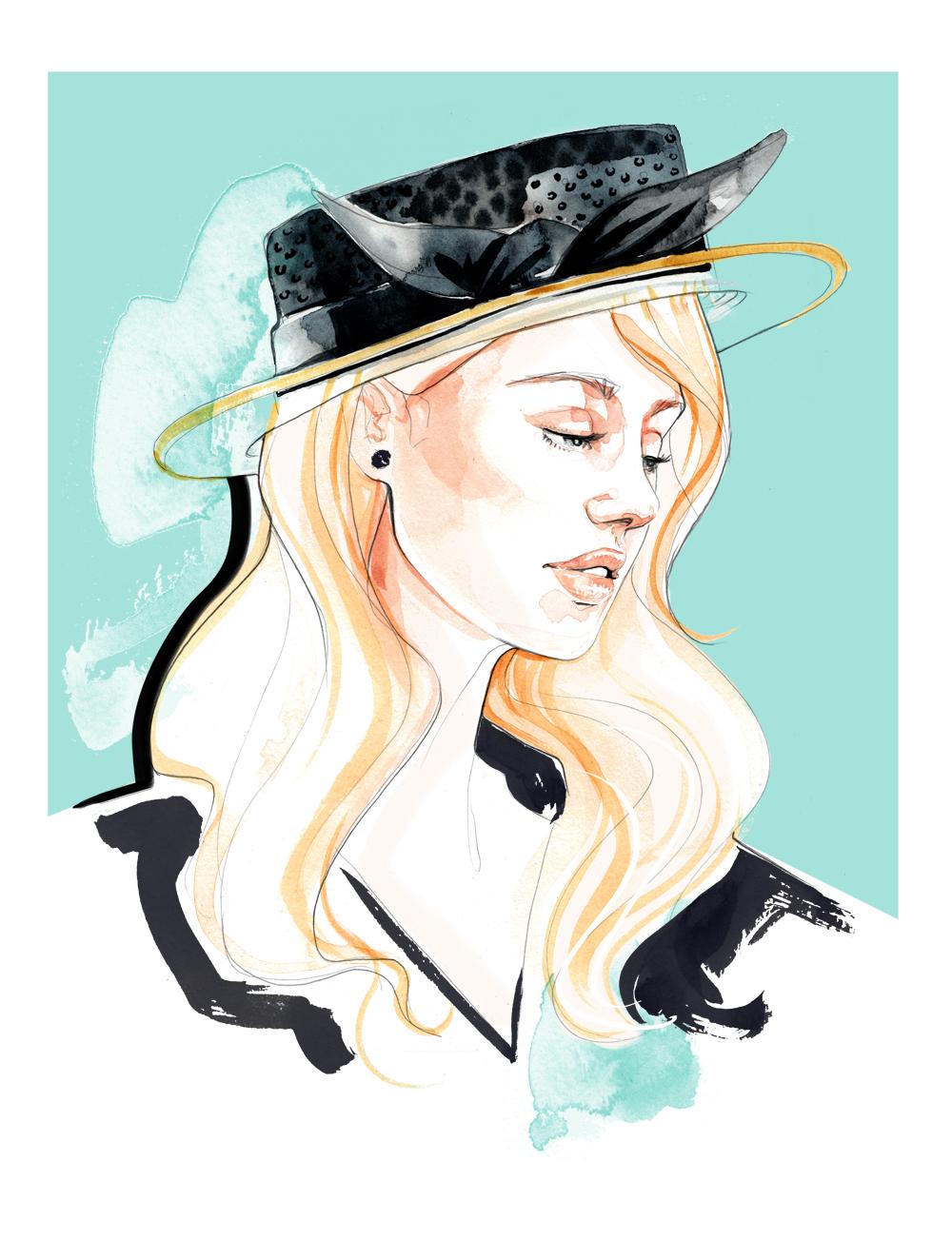 Awon Golding ss16 Fashion Illustration
