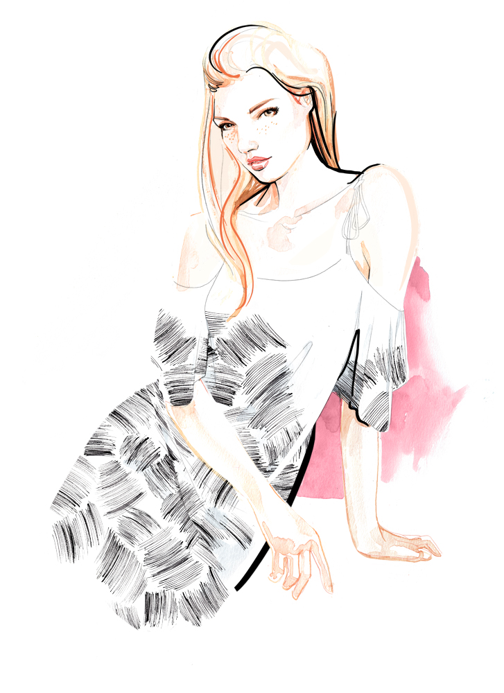 Florence Bridge Fashion Illustration ss16 - Fashion Illustration