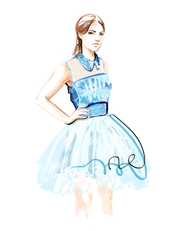 Bora Aksu - Fashion Illustration