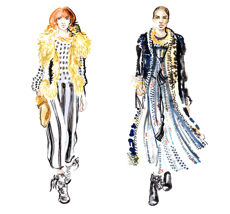Lanvin aw15 catwalk - Fashion Illustration