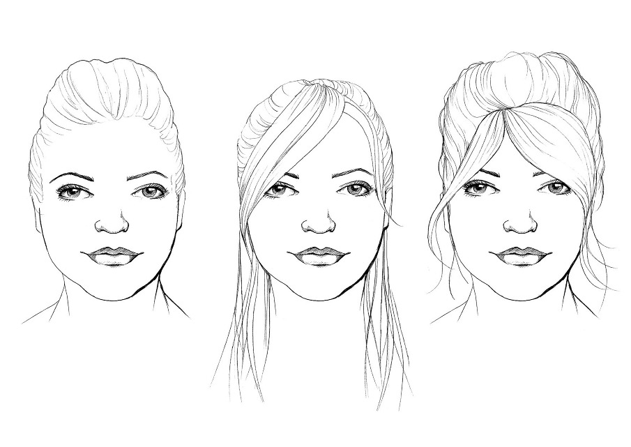 linear beauty, face shapes illustration