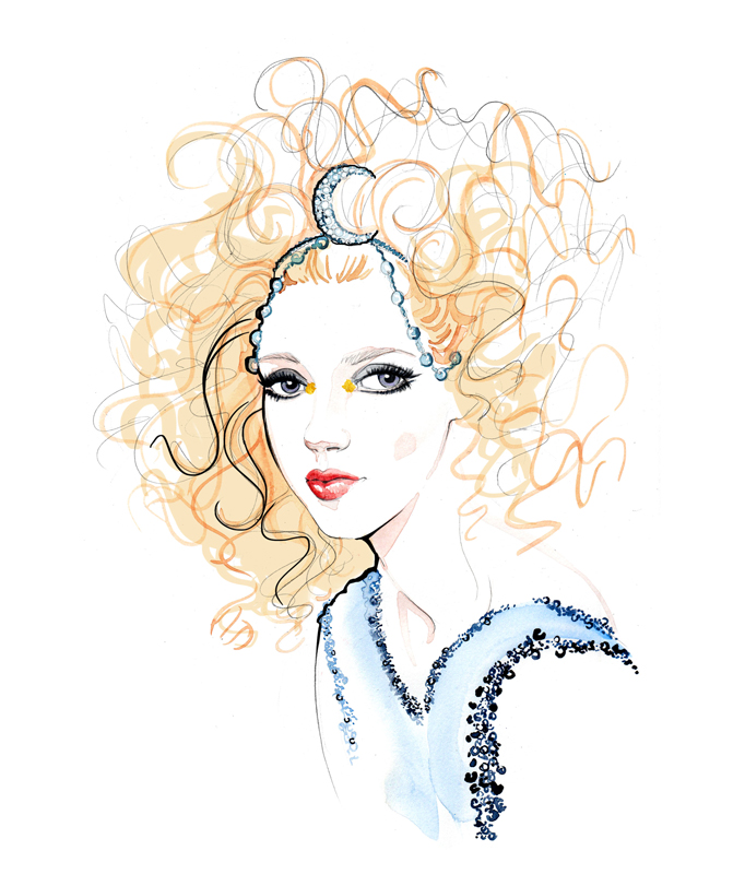 Chanel fashion and beauty illustration