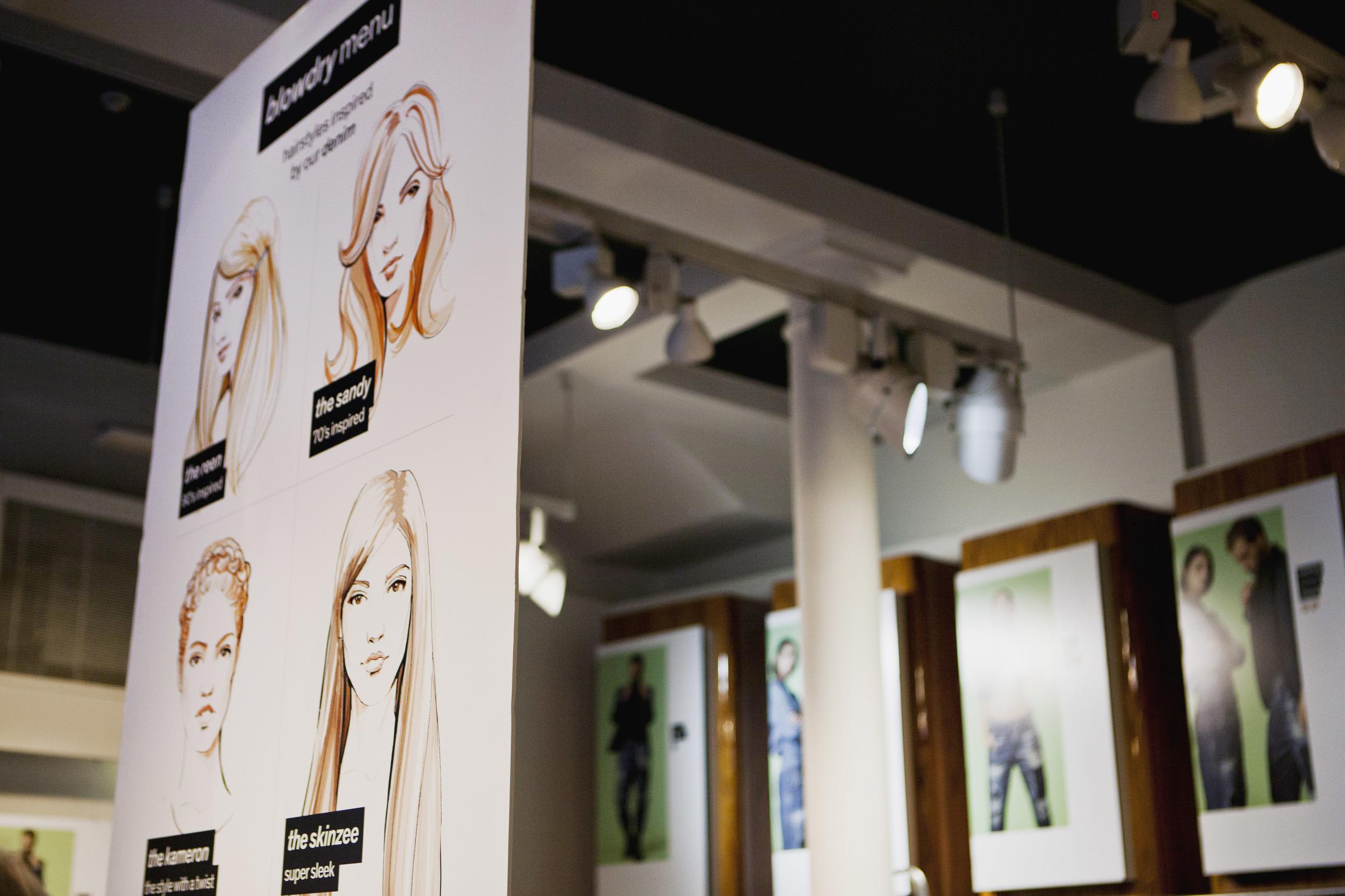 Willa Gebbie Fashion Illustrations for Diesel In-store Event Glasgow