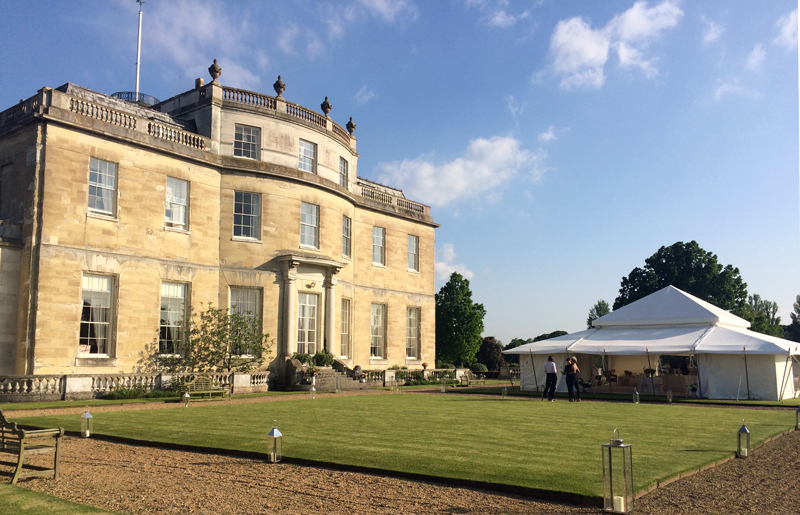 Tryingham Hall luxury event live illustration