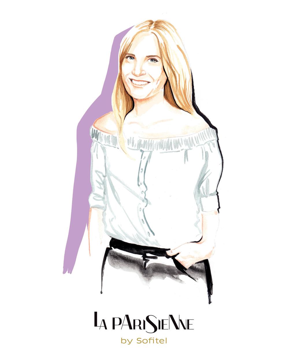 PR Fashion Illustration Portraits for La Parisienne invitations by Willa Gebbie