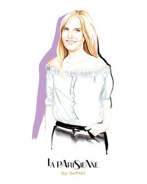 PR fashion portrait for Sofitel by fashion illustrator, Willa Gebbie