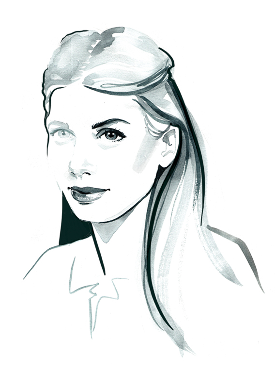 Willa Gebbie fashion portrait illustration