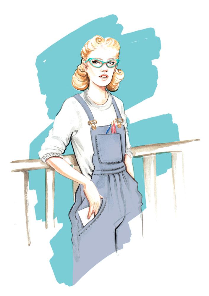 Fashion illustration by Willa Gebbie