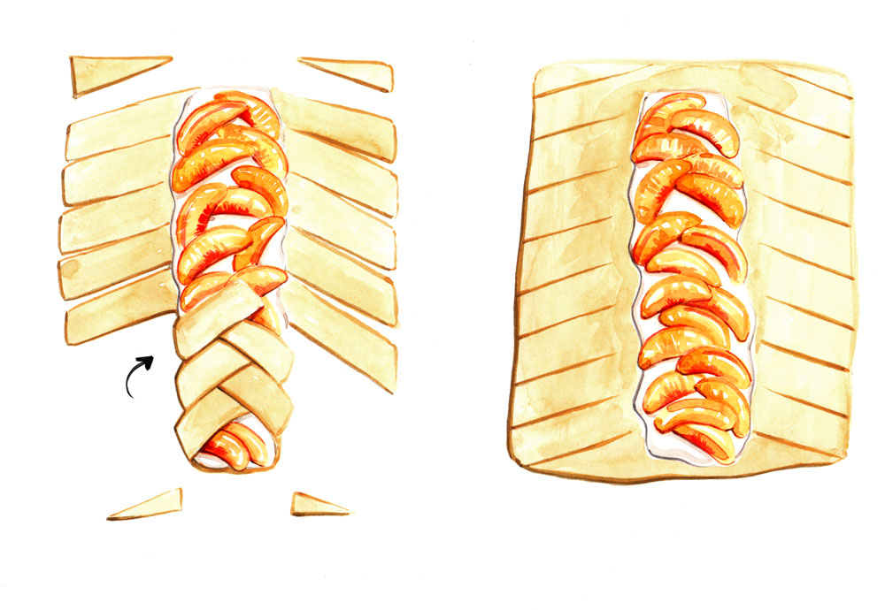 step by step, how-to, food illustration by Willa Gebbie