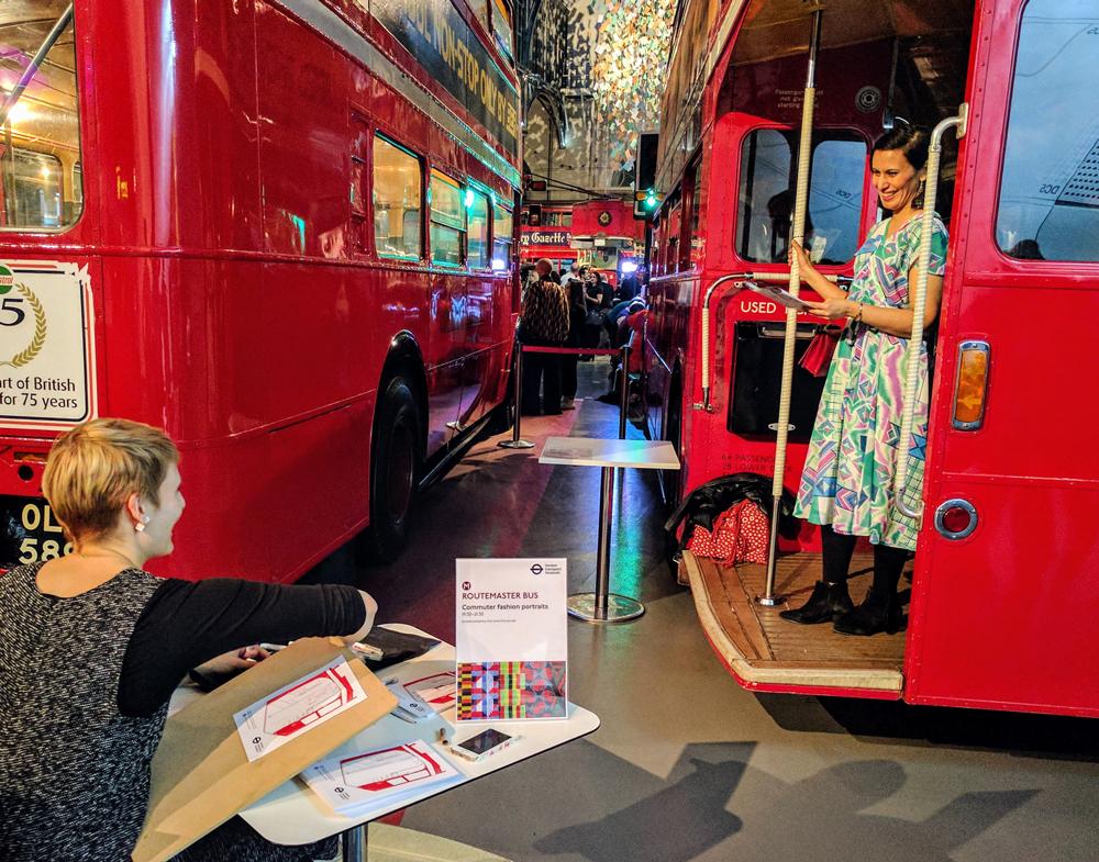 Willa Gebbie Live FashionIllustration London Transport Museum