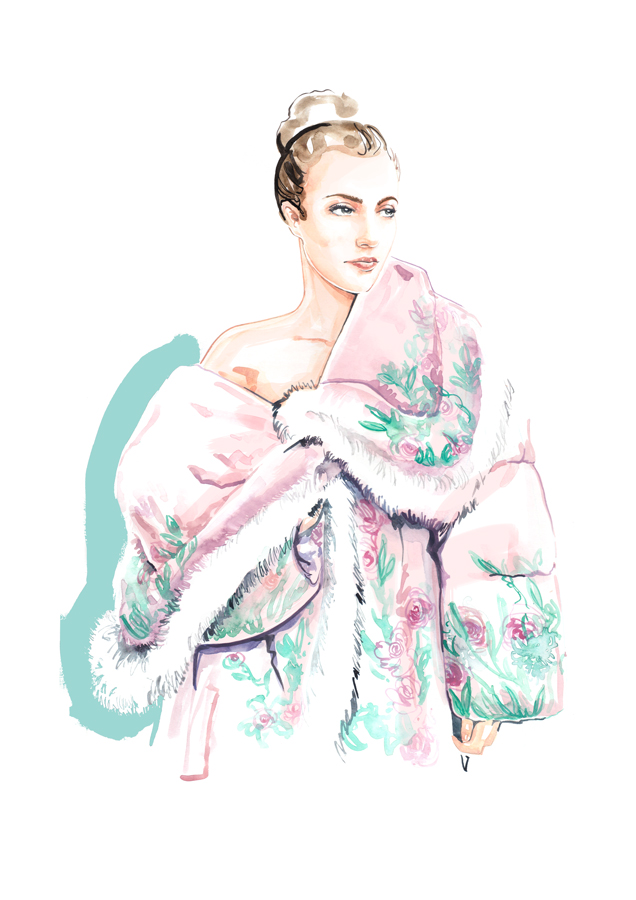 fashion illustration London watercolour_ willa gebbie