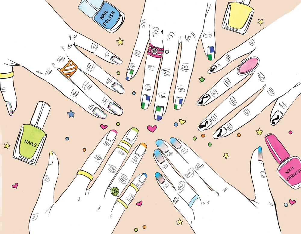 beauty nails illustration linework willa gebbie