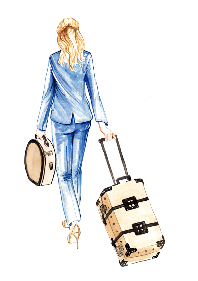 travelling figurative illustration for Country Life magazine