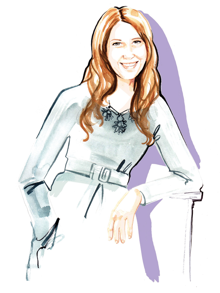 Watercolour Fashion Portrait illustration by Willa Gebbie