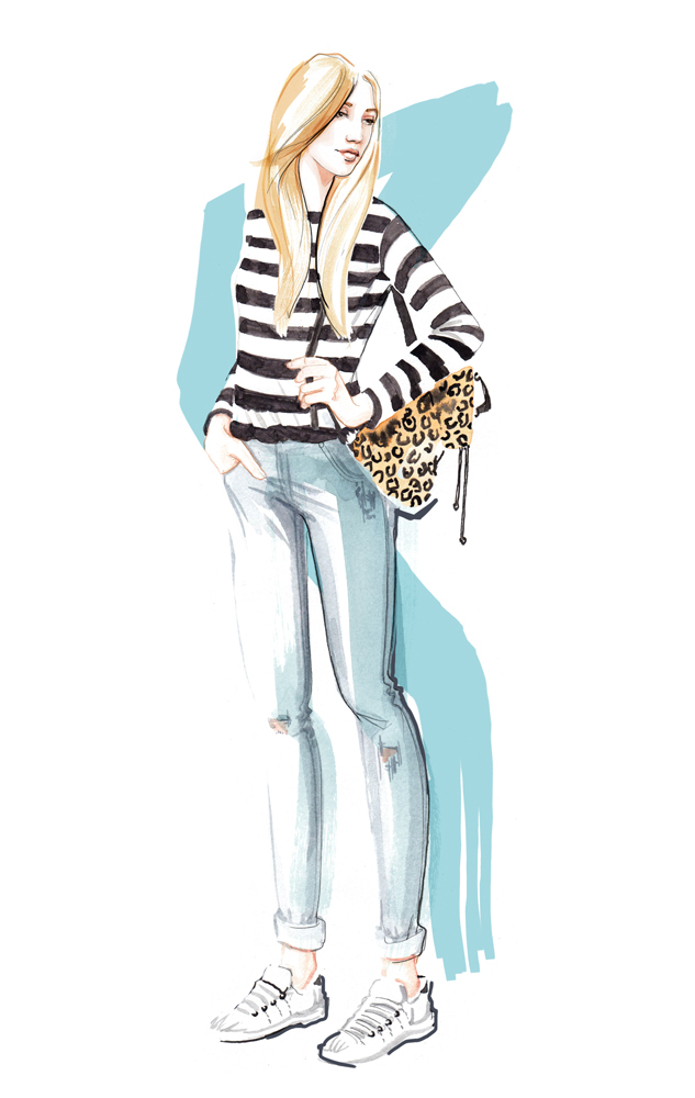 Fashion Illustrations, watercolour by Willa Gebbie