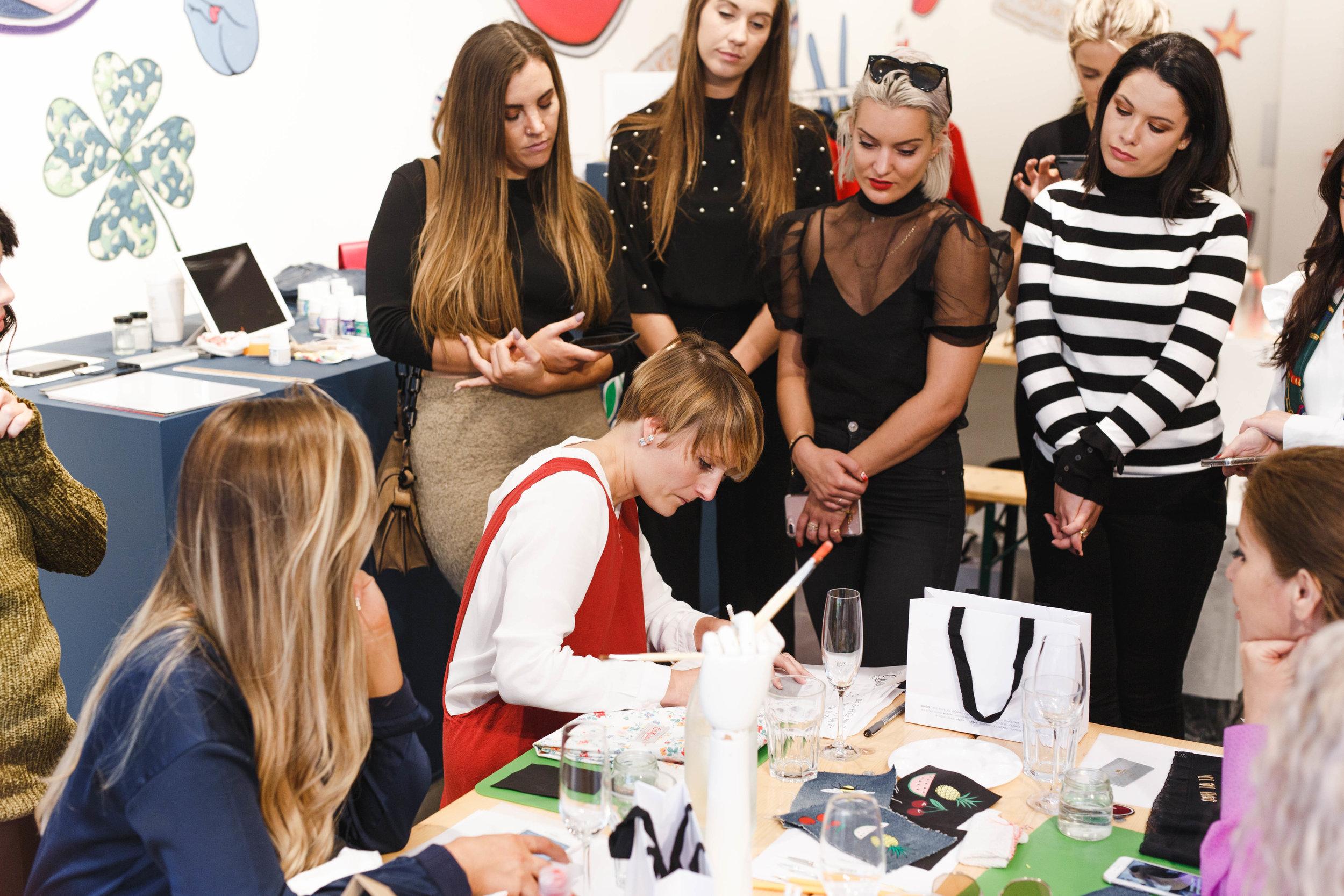 Willa Gebbie Influencer Workshop - Hand painting Leather and Denim