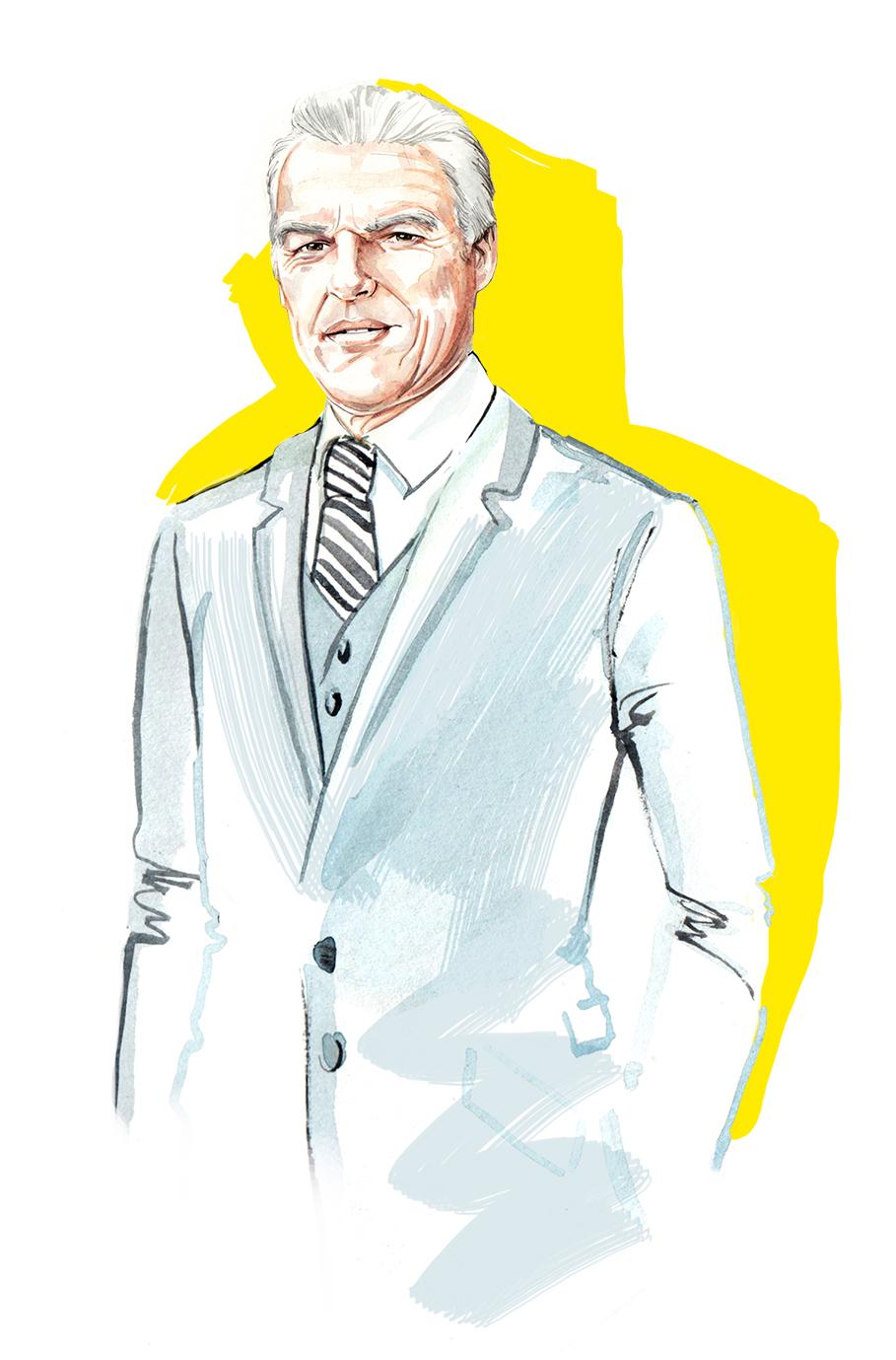 Watercolour portrait by illustrator, Willa Gebbie