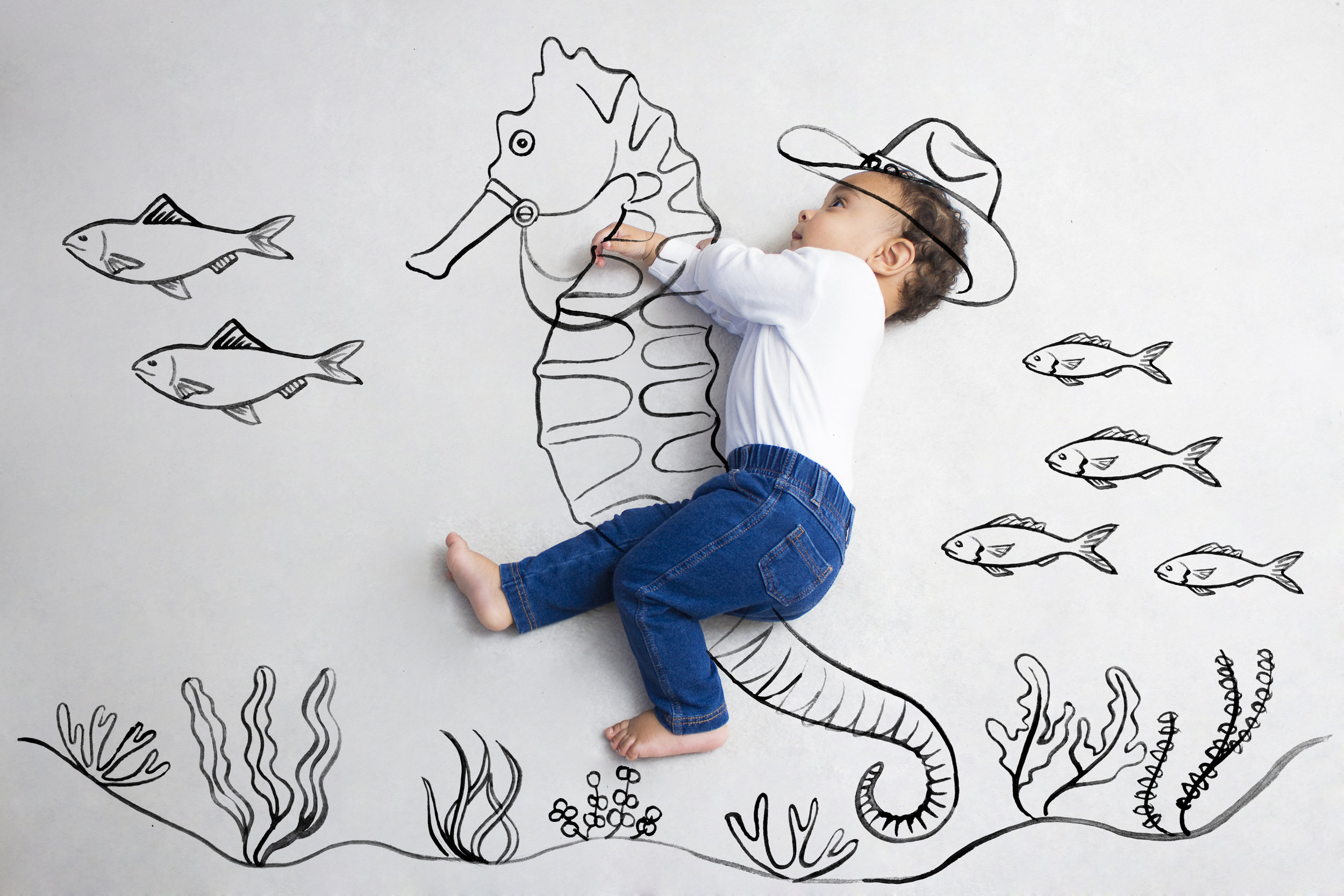 Illustration and photography collaboration for Children by illustrator, Willa Gebbie