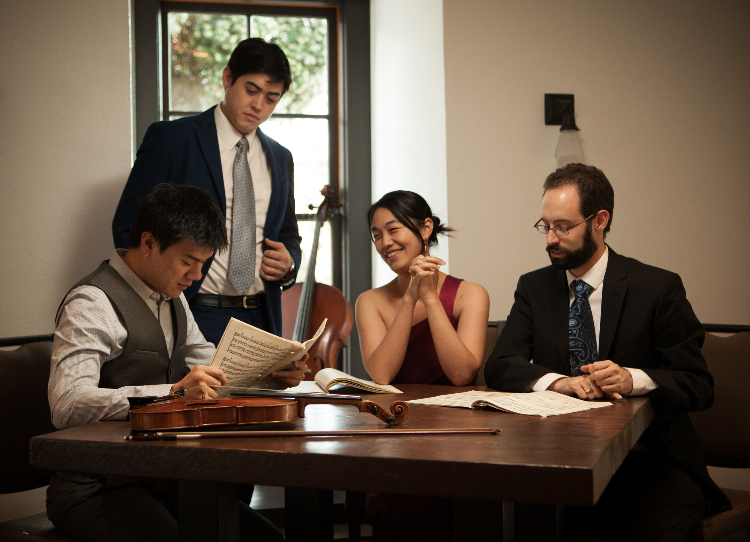 The Telegraph Quartet recently won the 2016 Naumburg Chamber Music Competition, a prize that helped launch the careers of groups including the Pacifica, Brentano and Emerson string quartets and the Eroica Trio. The prize carries with it a performance at Carnegie Hall / Weill Recital Hall and a commissioned work by esteemed American composer Robert Sirota.    The quartet also won the prestigious Grand Prize in the 2014 Fischoff Chamber Music Competition after playing together for less than a year.They were the only American quartet of the fifteen from around the world invited to showcase at the 2016 Paris Biennale de quatuors à cordes (Biennial String Quartet Festival and Symposium).    The Telegraph Quartet was formed in 2013 with a passionate commitment to the standard repertoire as well as contemporary and new music. Recent appearances include a New York début in Carnegie Hall / Weill Recital Hall, a European début in the Emilia Romagna Music Festival (Italy), Kneisel Hall Chamber Music Festival, Chautauqua Music Festival, Capistrano Chamber Music Festival, Chicago Chamber Music Society, Chamber Music Yellow Springs, and Great Lakes Music Festival. They have given three concerts on the San Francisco Conservatory's Chamber Music Masters Series, and a tour of the Midwest sponsored by the Fischoff Foundation. They have participated Robert Mann's Quartet Seminar at the Manhattan School of Music and the St. Lawrence Quartet's workshop at Stanford University. Their début CD of Webern, Britten and Kirchner will be released in 2017.    The quartet collaborates with pianist Simone Dinnerstein, cellist Norman Fischer, violist James Dunham (formerly of the Cleveland Quartet) and the Henschel Quartett from Germany.    Beyond the concert stage, the Telegraph Quartet seeks to spread its music through education and audience engagement. They have given master classes at the San Francisco Conservatory of Music and the Chicago Youth Symphony Orchestra. The quartet members hold teac
