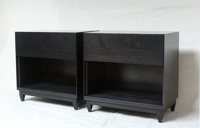2X|OXIDE . ebonized walnut/blackened steel . destined for an exciting project orchestrated by @wendy_haworth . #laylostudio #oxide #nightstand #california #chicago #blackenedsteel #ebonizedwalnut #woodworking #metalworking #finedesign #customfurniture #handmade #laboroflove #1stdibs #takesthecake