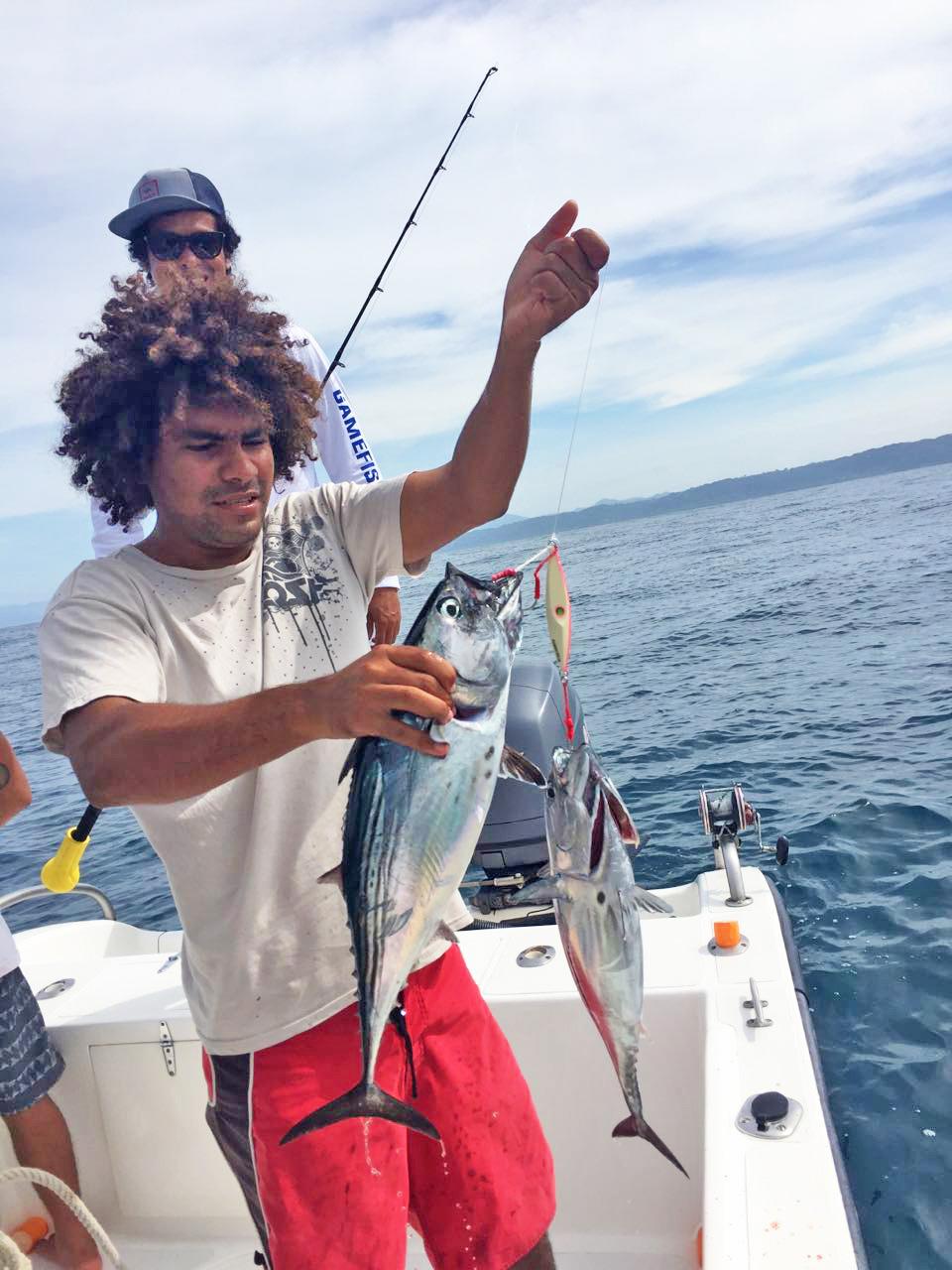 Jigging off the coast of Mal Pais and Santa Teresa