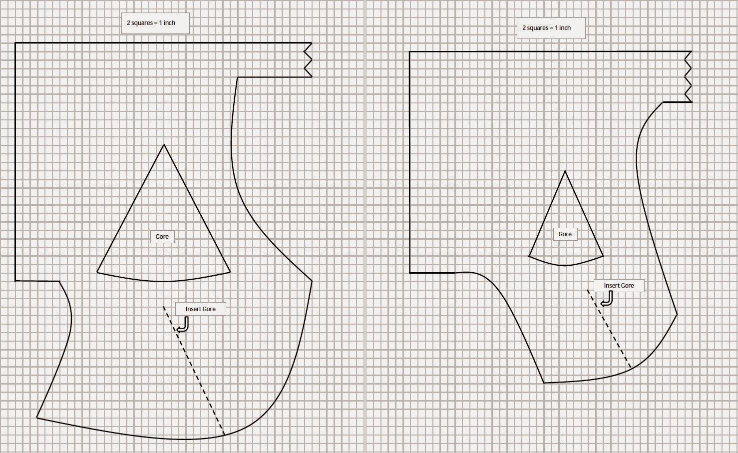 Left: Classic Hood pattern     Right: Open Hood pattern