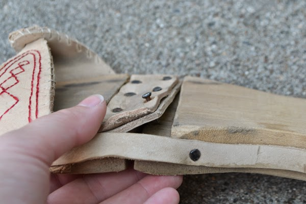 Closeup of right foot.