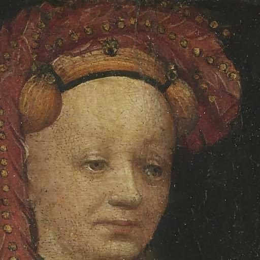 Portrait of Lysbeth van Duvenvoorde, anoniem, c. 1430. Rijksmuseum , No.SK-C-1454