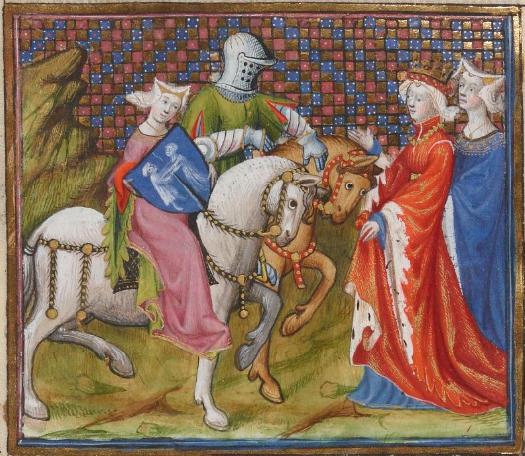 Lancelot-Graal (f.229v) c. 1301-1400  Bibliothèque nationale de France, Département des manuscrits, Français 118