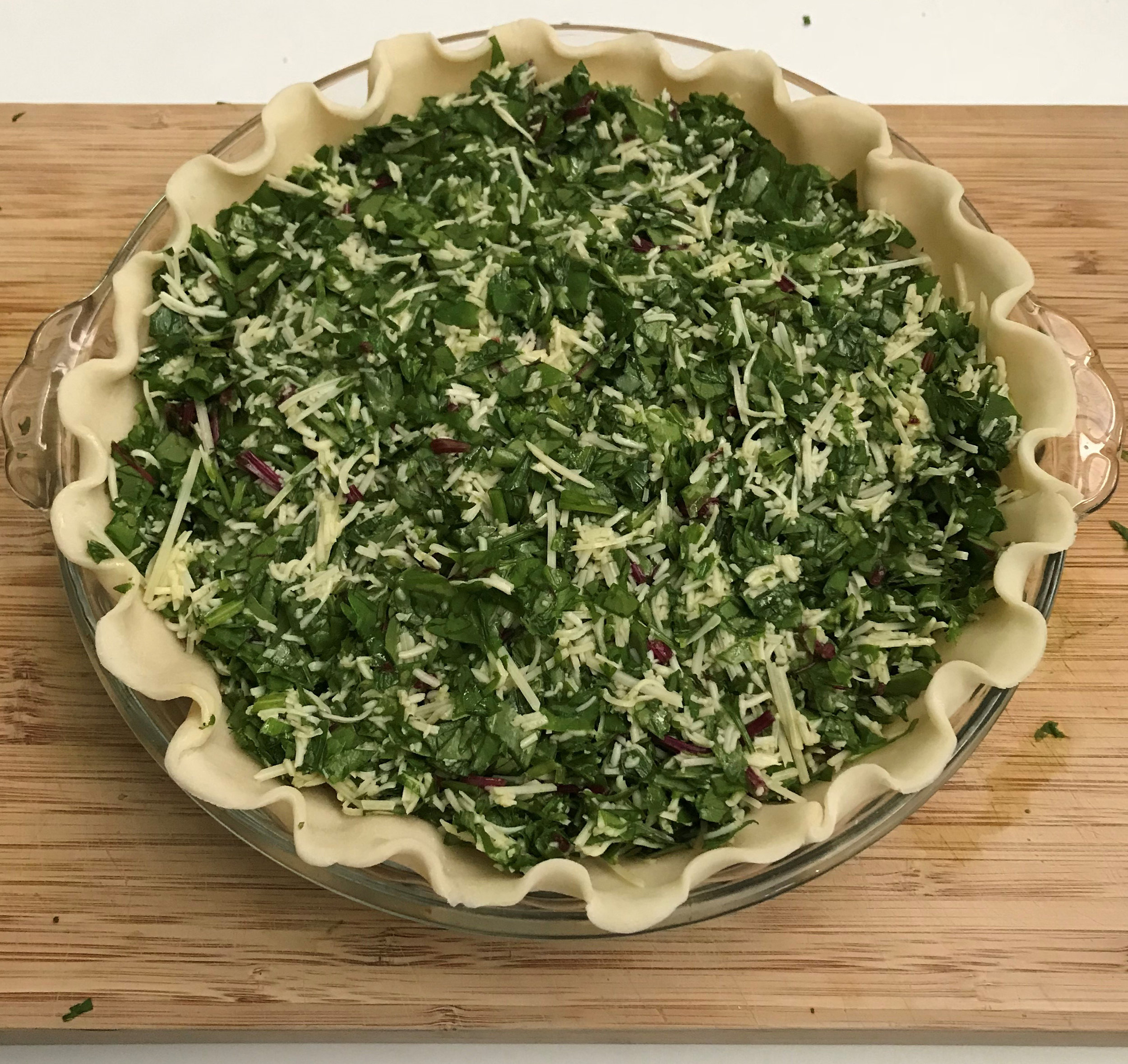 Mix in remaining ingredients and pour into pie shell