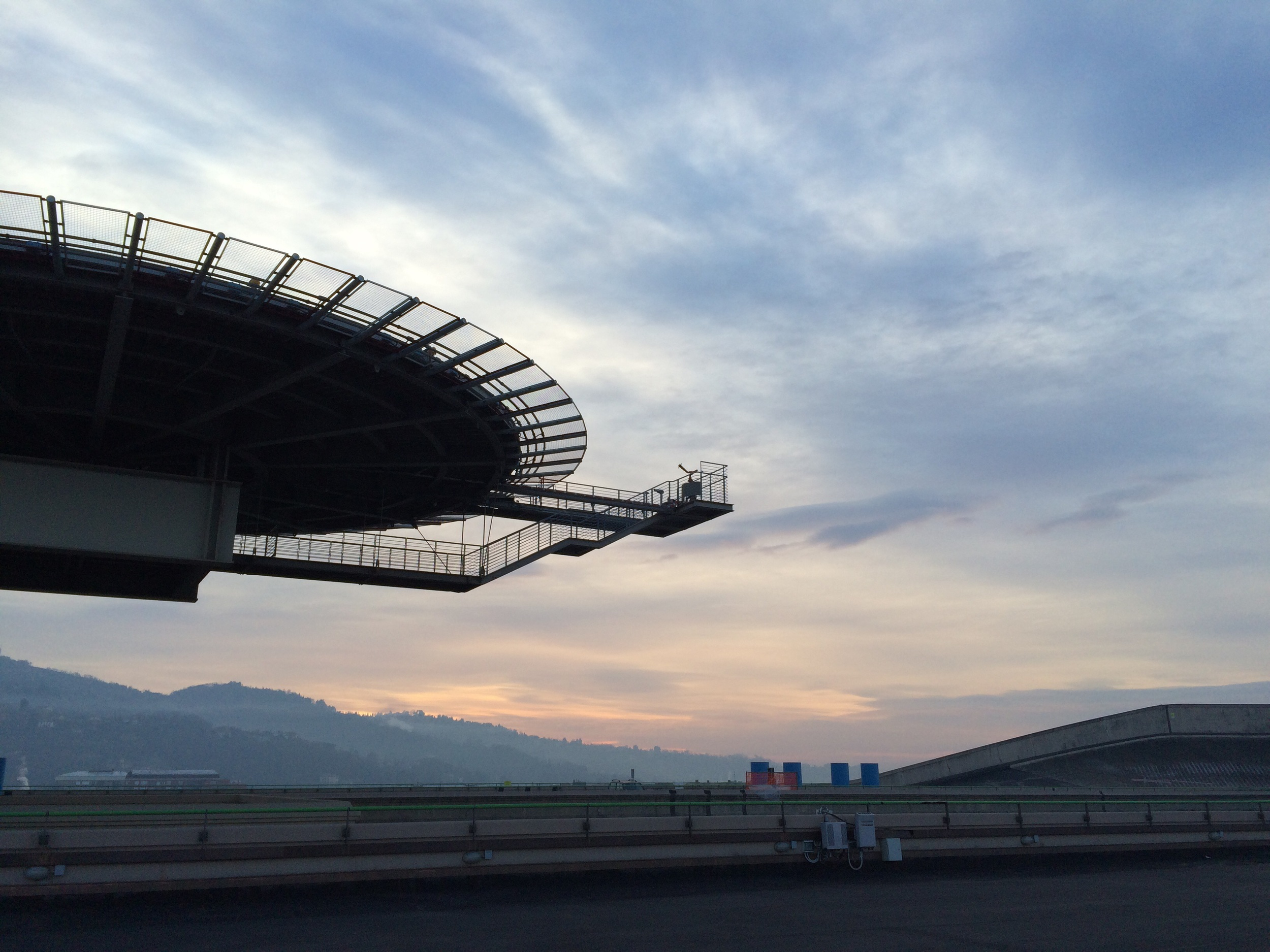 Sunrise from the roof of NH Lingotto
